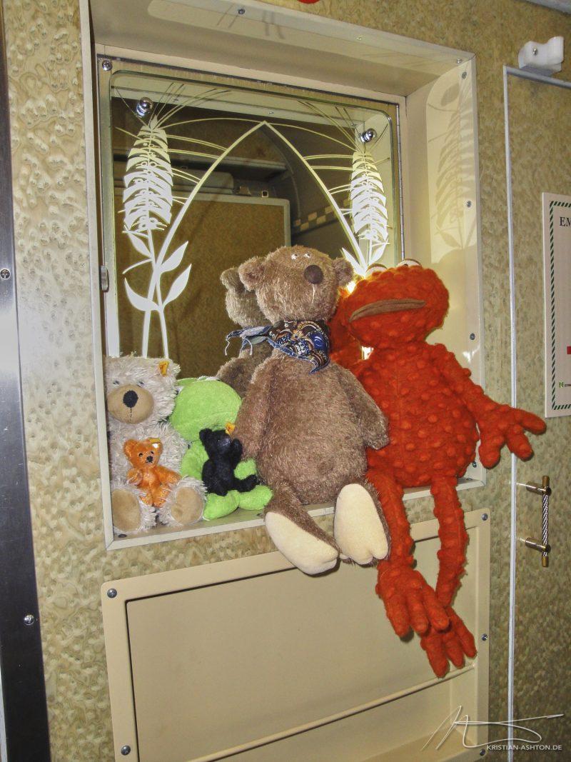 Die Jungs haben einen tollen Platz in unserer Ghan-Suite gefunden