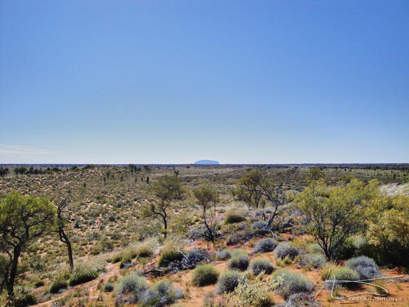 View towards Uluru from Kata Tjuta