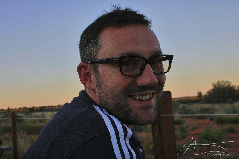 Kristian viewing the Uluru sunset spectacular