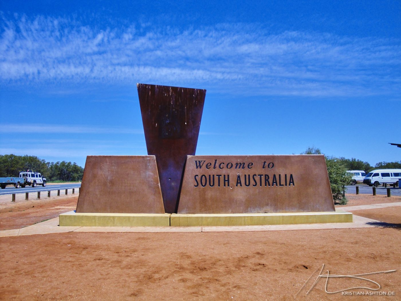 The border between the Northern Territory and South Australia
