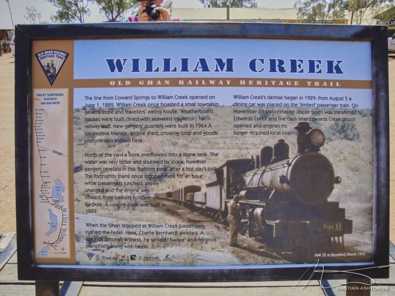 William Creek - along the old Ghan route