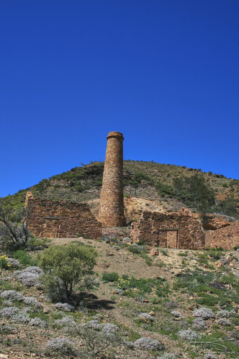 The abandoned Nuccaleena copper mine and settlement