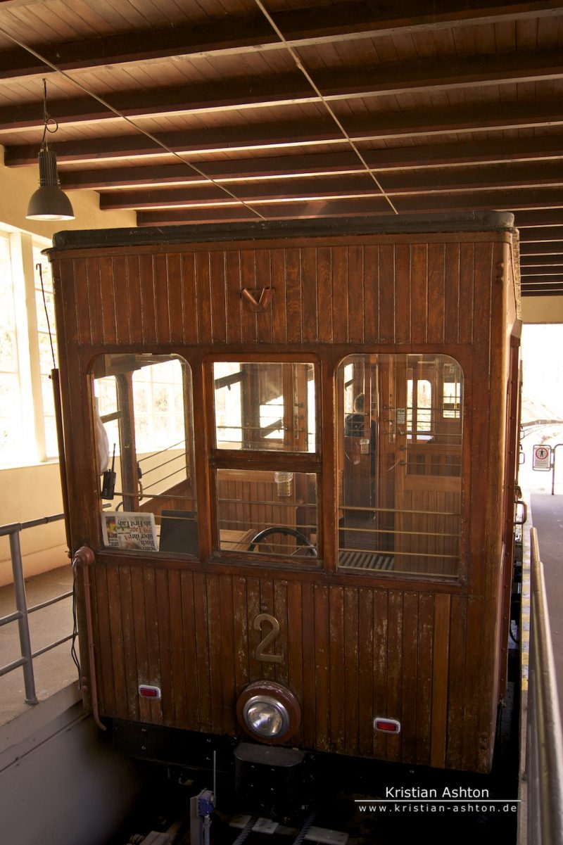 The historic funicular to the forest cemetery