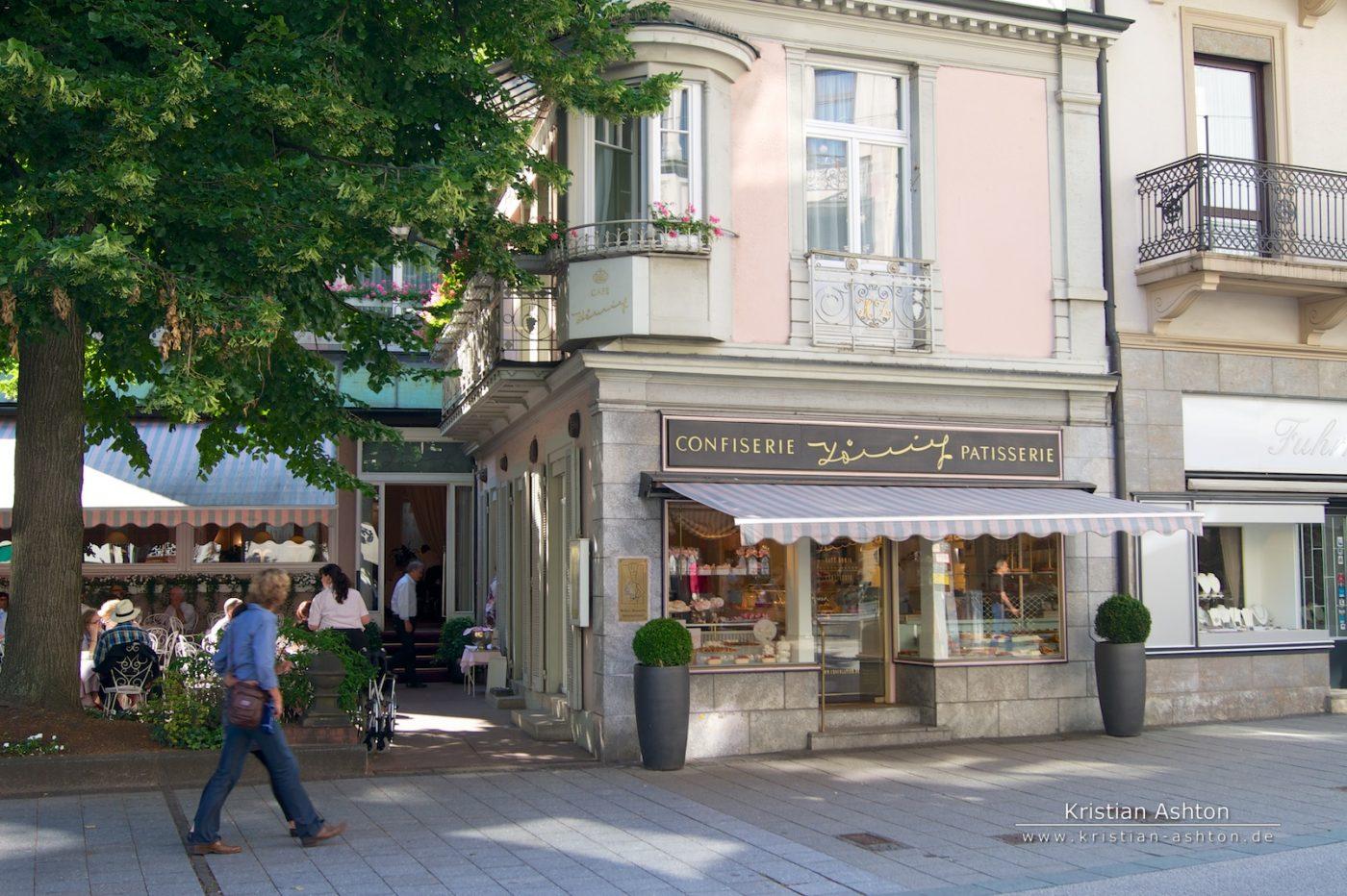 The famous Café König in Baden-Baden