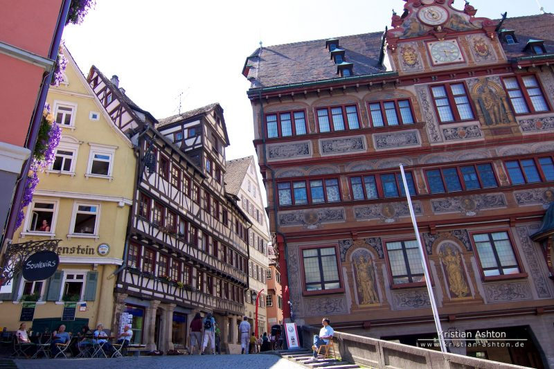 The Tübingen town hall and market square