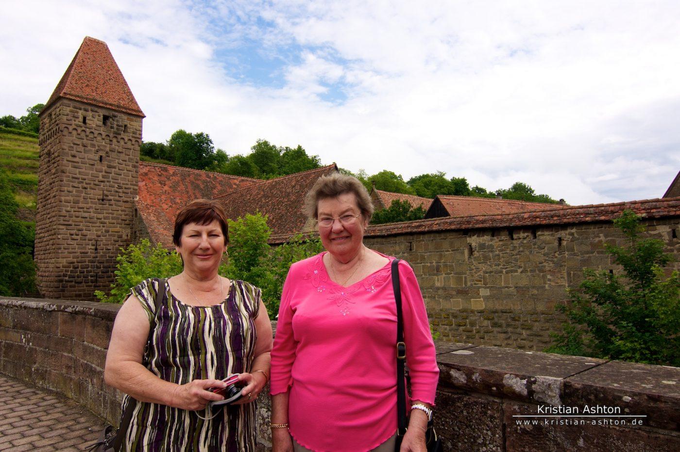 Mum and Omi at Maulbronn monestary