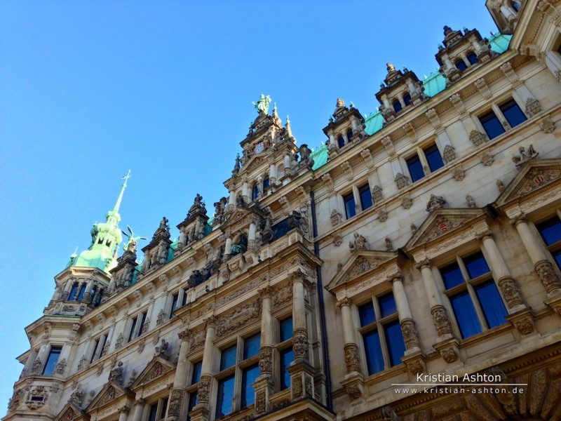 The Hamburg town hall - one of the most beautiful in Germany