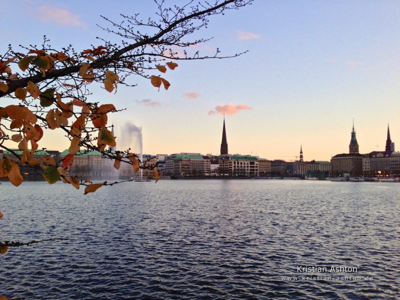 Sunset over the inner Alster
