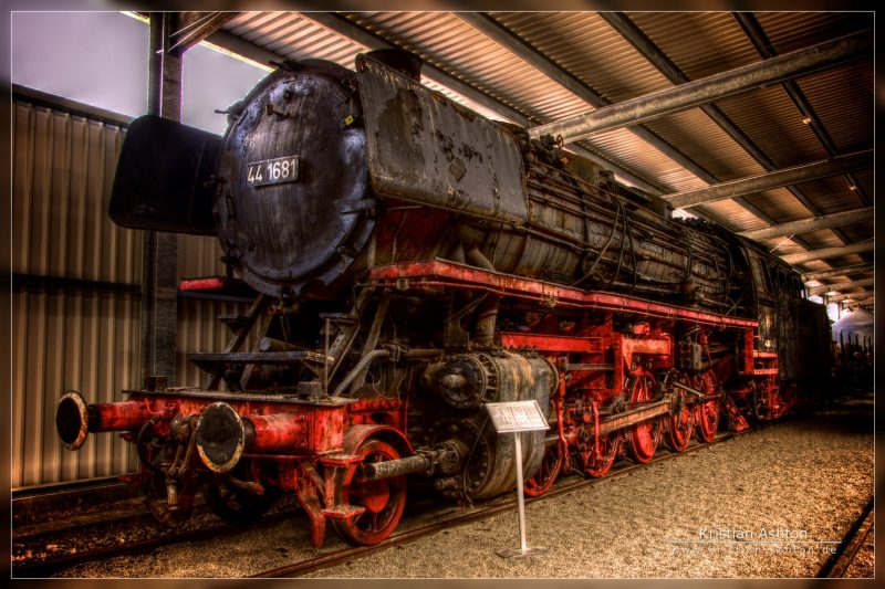 Artistic HDR of Goods steam loco BR44 - 1681