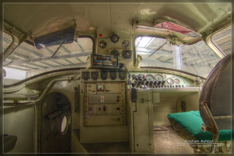 Artistic HDR of the driver's cabin in the famous TEE