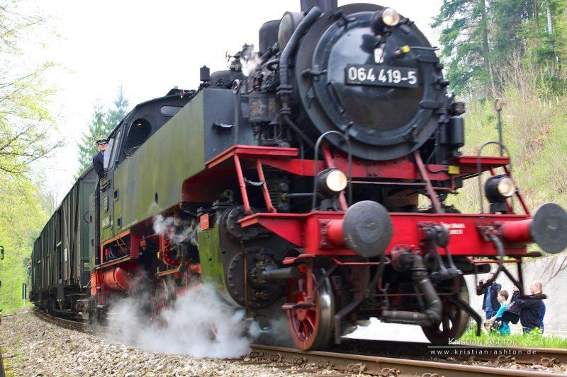 Journey to Welzheim with steam loco 064 419-5