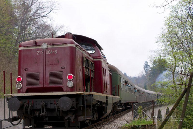 Journey to Welzheim (with help from diesel loco 212 084-8)