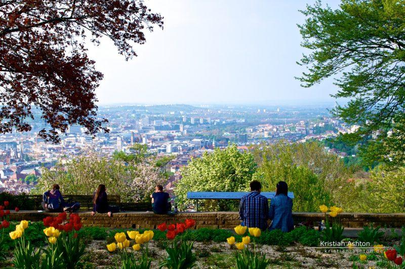 """View across Stuttgart from tram-stop """"Haigst"""""""