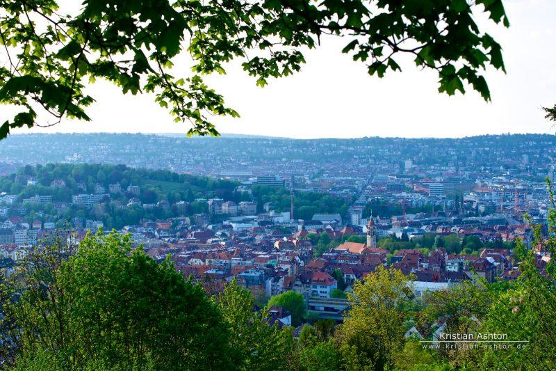 """View across Stuttgart from the """"Neue Weinsteige"""""""