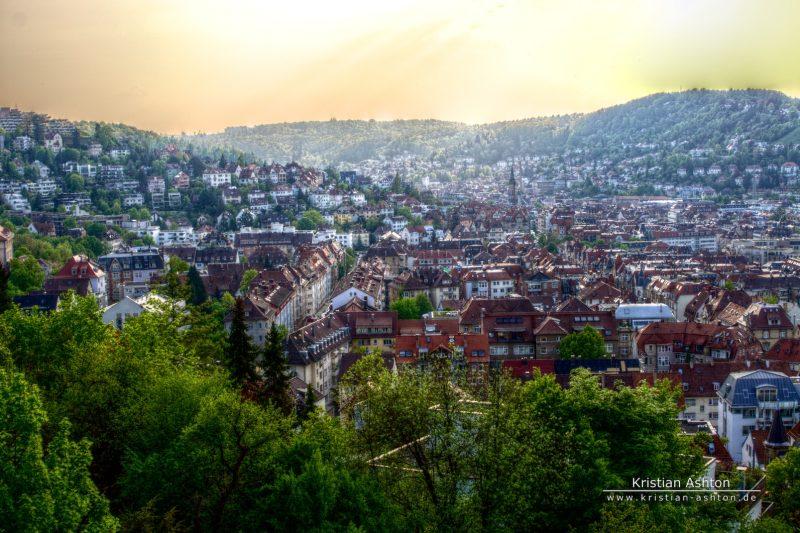 "HDR view across Stuttgart from the ""Neue Weinsteige"""