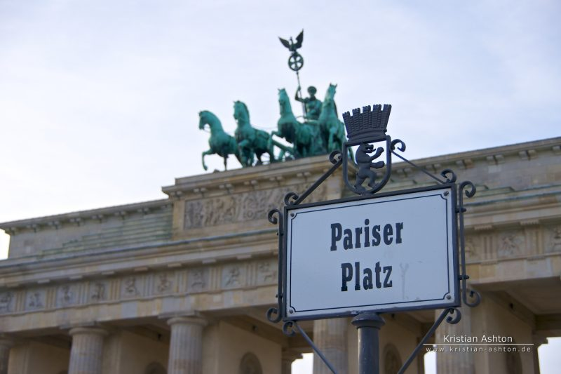 Berlin - Paris Square and the Brandenburg Gate