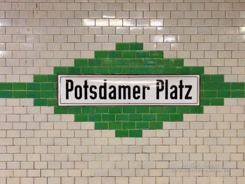 Berlin - Underground station Potsdamer Platz