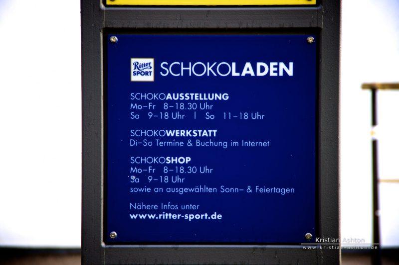 """The Ritter Sport """"Schokoladen"""" factory outlet"""