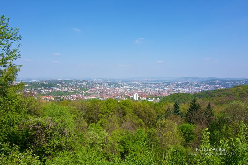 "View across Stuttgart from the ""Birch Head"""
