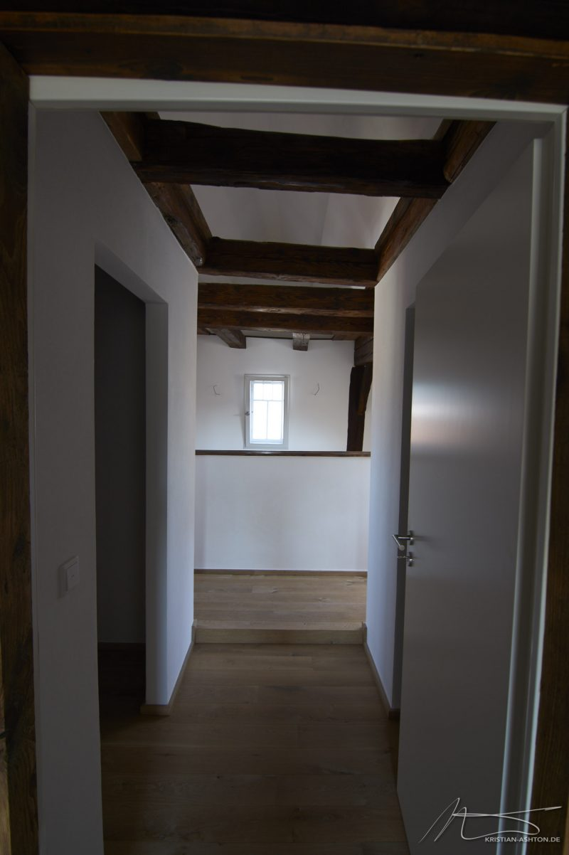 View from the stairs towards the master bedroom