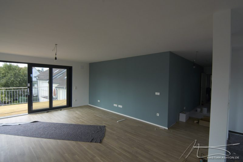 Living room, balcony and hall