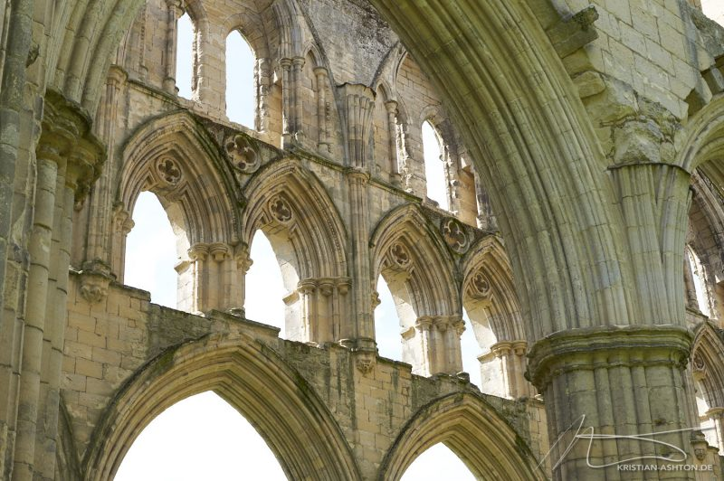 The breathtaking Rievaulx Abbey, built 1132