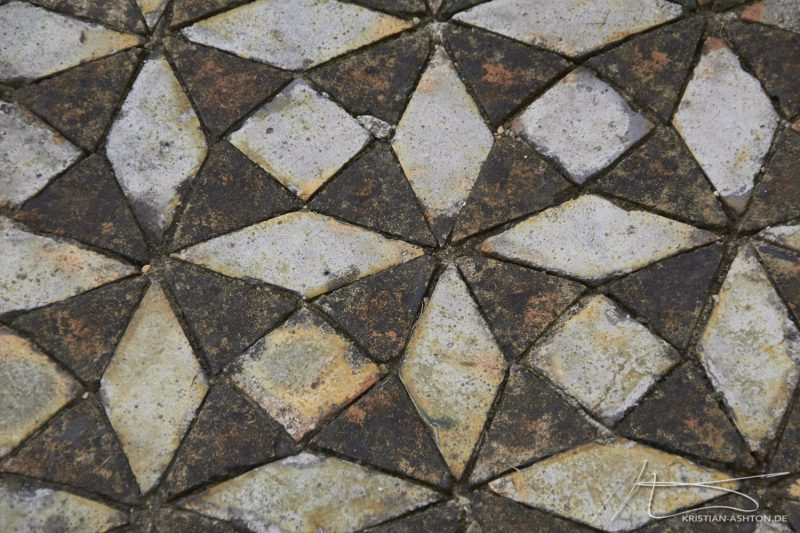Byland Abbey is littered with stunning floor mosaics from the 13th century