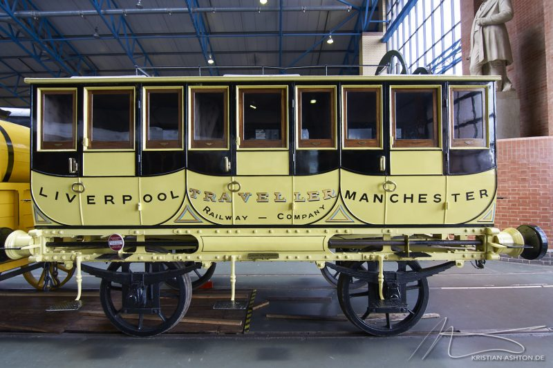 "National Railway Museum York - Replica of a passenger wagon for the ""Rocket"""