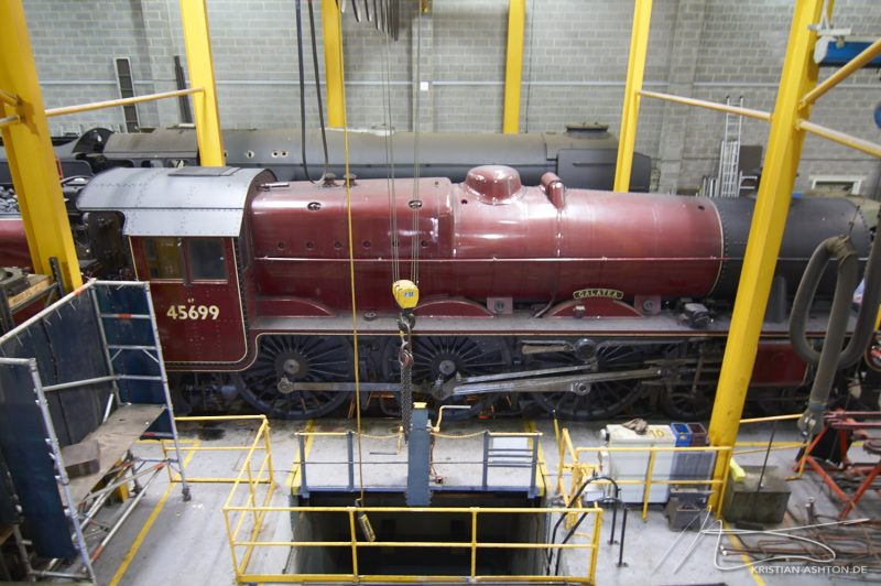 "National Railway Museum York - Steam locomotive No. 45699 ""Galatea"" in the works"