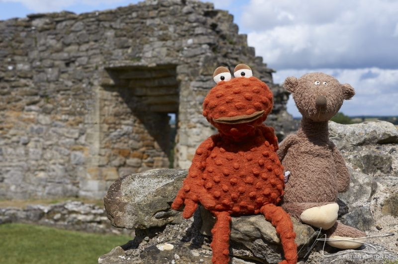 Pickering Castle - Olli and Sigge pose