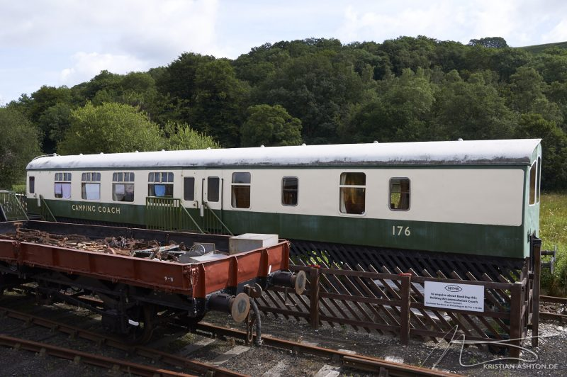 Levisham station - holiday accommodation in old railway carriages
