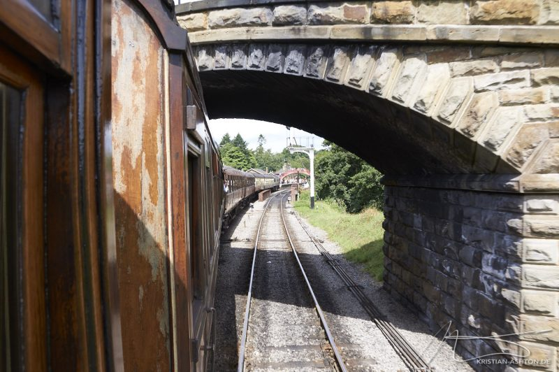 North Yorkshire Moors Railway - arrival into Goathland station