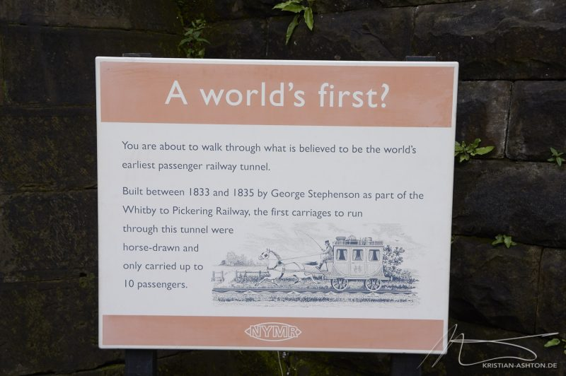 Grosmont station - perhaps the world's earliest passenger railway tunnel!