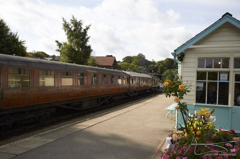 Grosmont station - dining car of the North Yorkshire Moors Railway