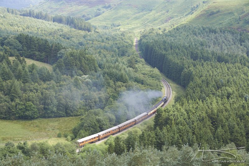 View of the North York Moors Railway (NYMR) by Pickering Beck