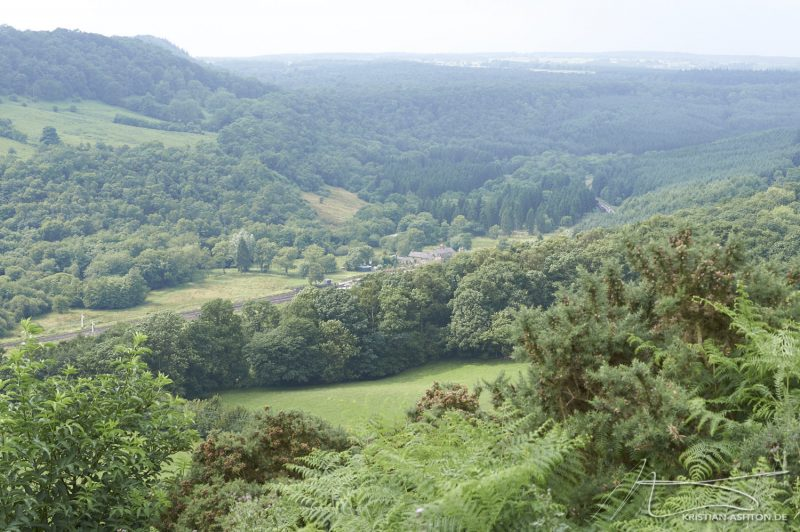 North York Moors - View towards Levisham station