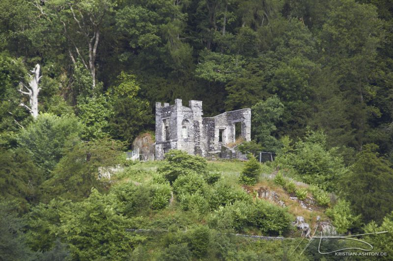 Lake District - a ruin on the shores of Windermere