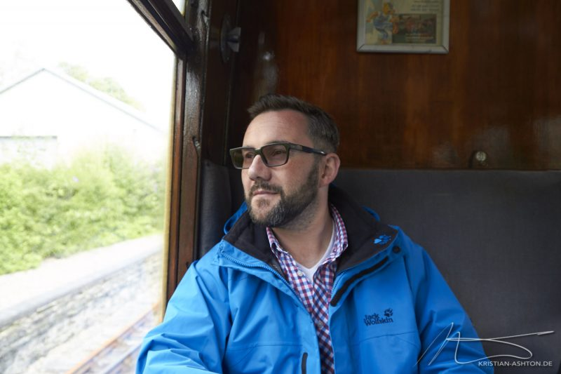 Kristian on the Lakeside & Haverthwaite Railway