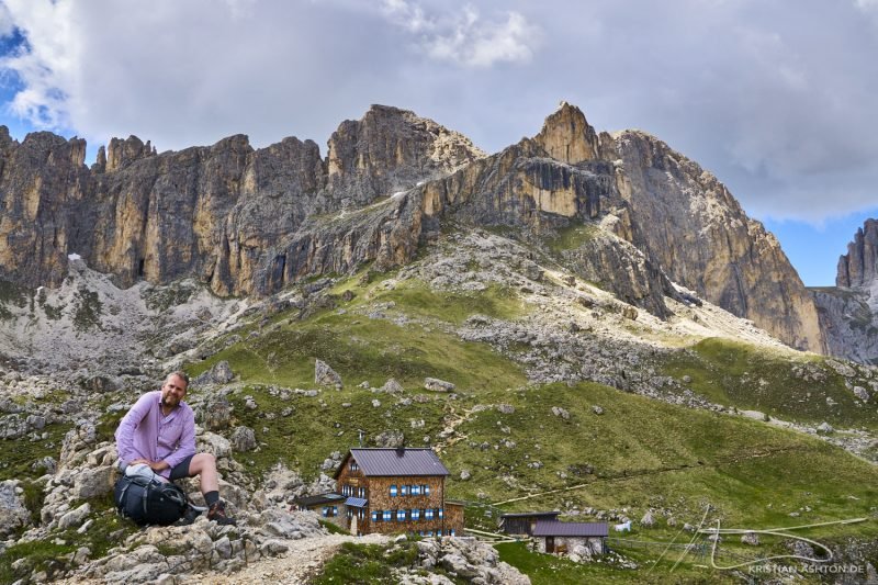 Ralph on the Rosengarten in the Dolomites