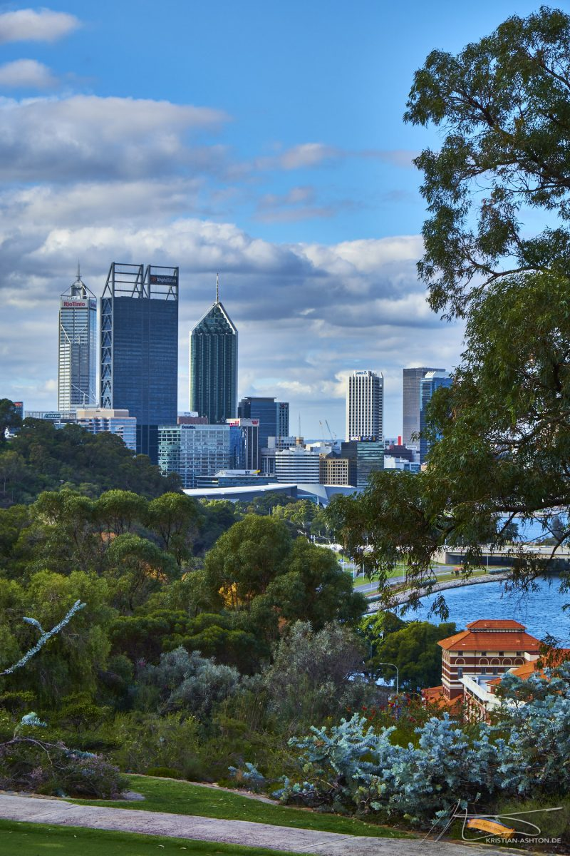 View towards Perth city centre from King's Park