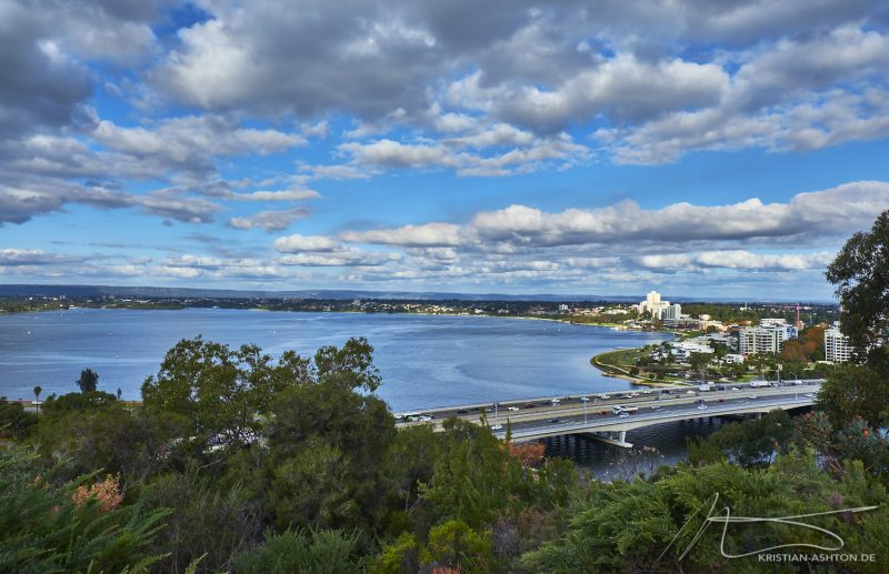 View across the Swan river from King's Park