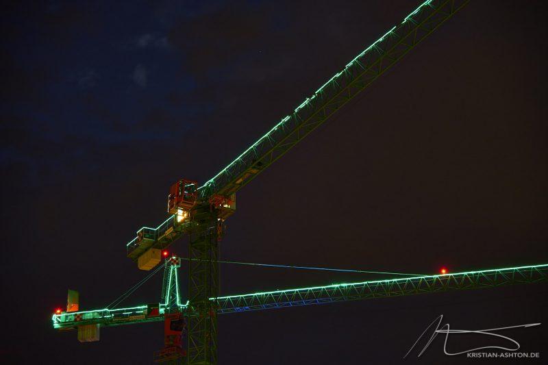 Cranes near the University of Stuttgart