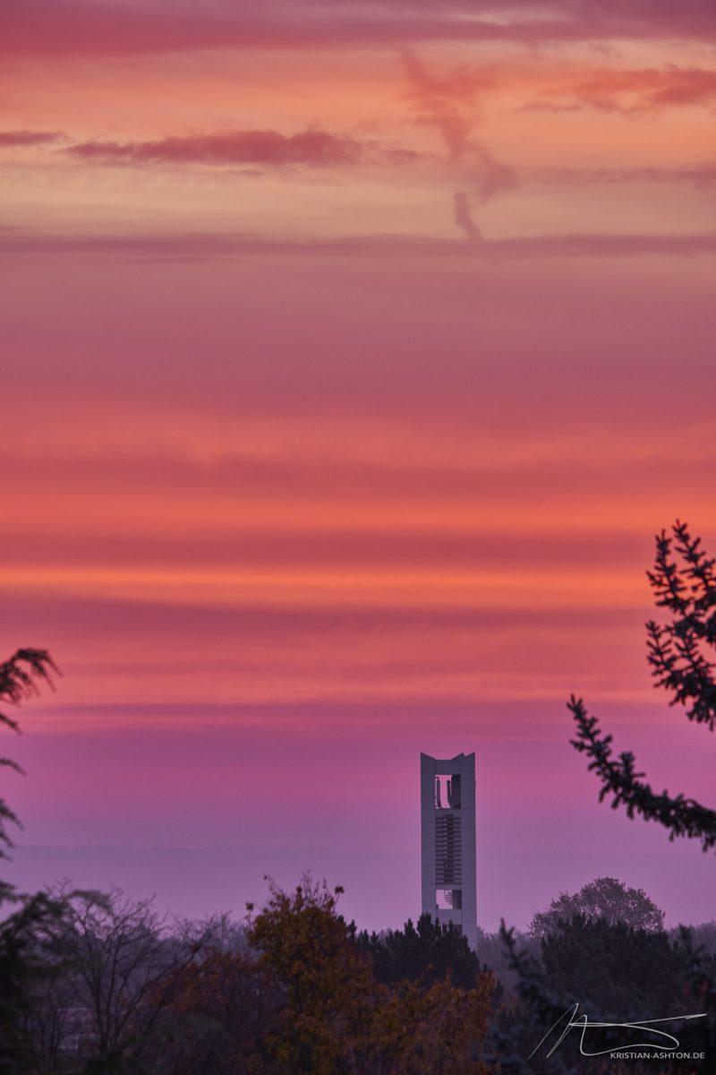 Break of dawn over Stuttgart-Sillenbuch