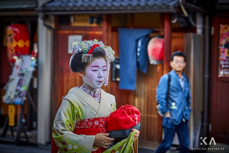 A Maiko (Geisha in training) in Gion