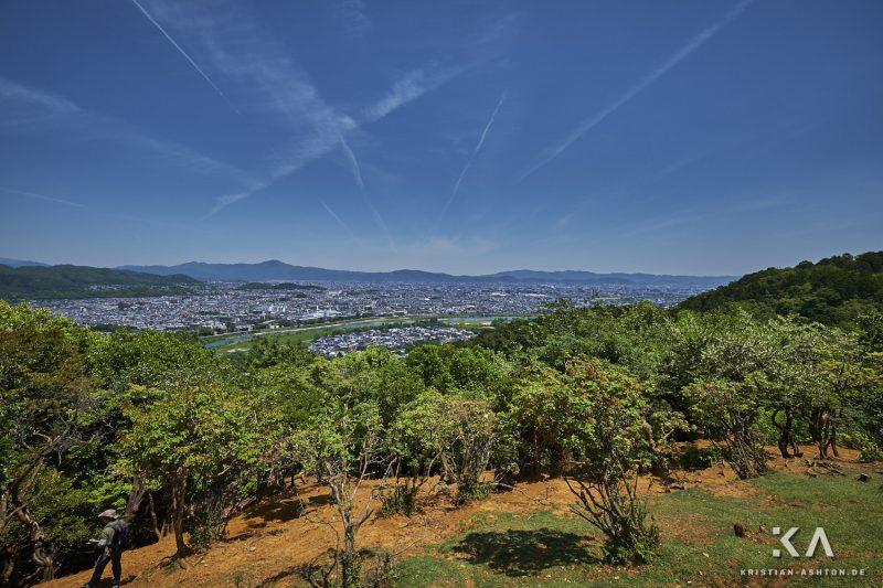 View across to Kyoto from Arashiyama Monkey Park Iwatayama