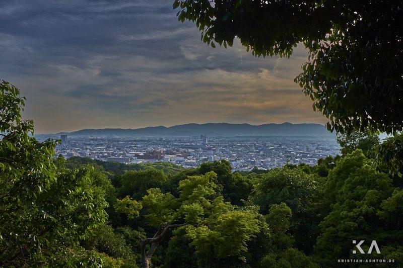 View across Kyoto from Fushimi Inari Taisha