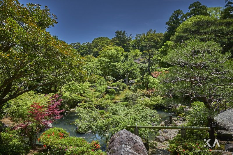 The beautiful Yoshikien gardens in Nara