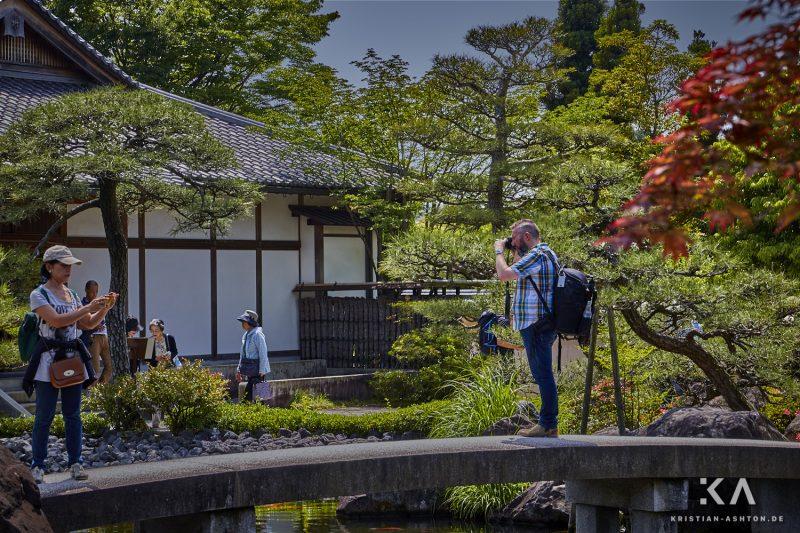 Kristian in the Koko-en gardens