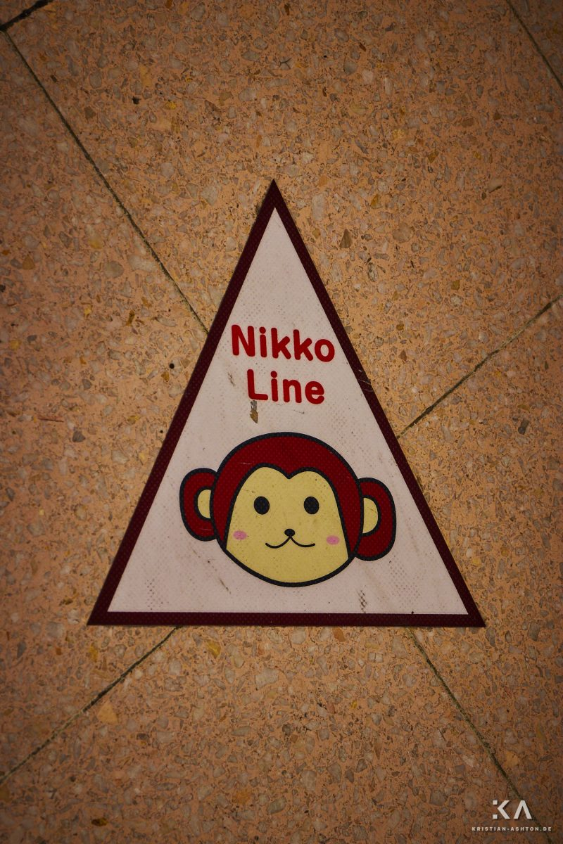 Utsunomiya station - follow the monkey to the Nikko Line