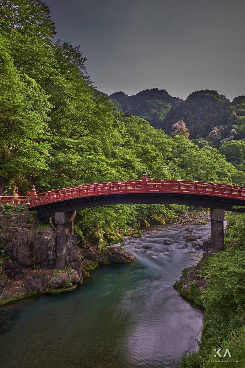 The beautiful Shinkyo bridge in Nikko